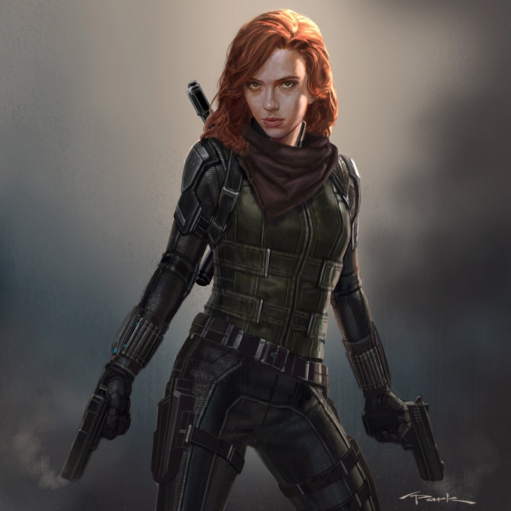 """marvel concept artist shares """"approved"""" design for black widow in"""
