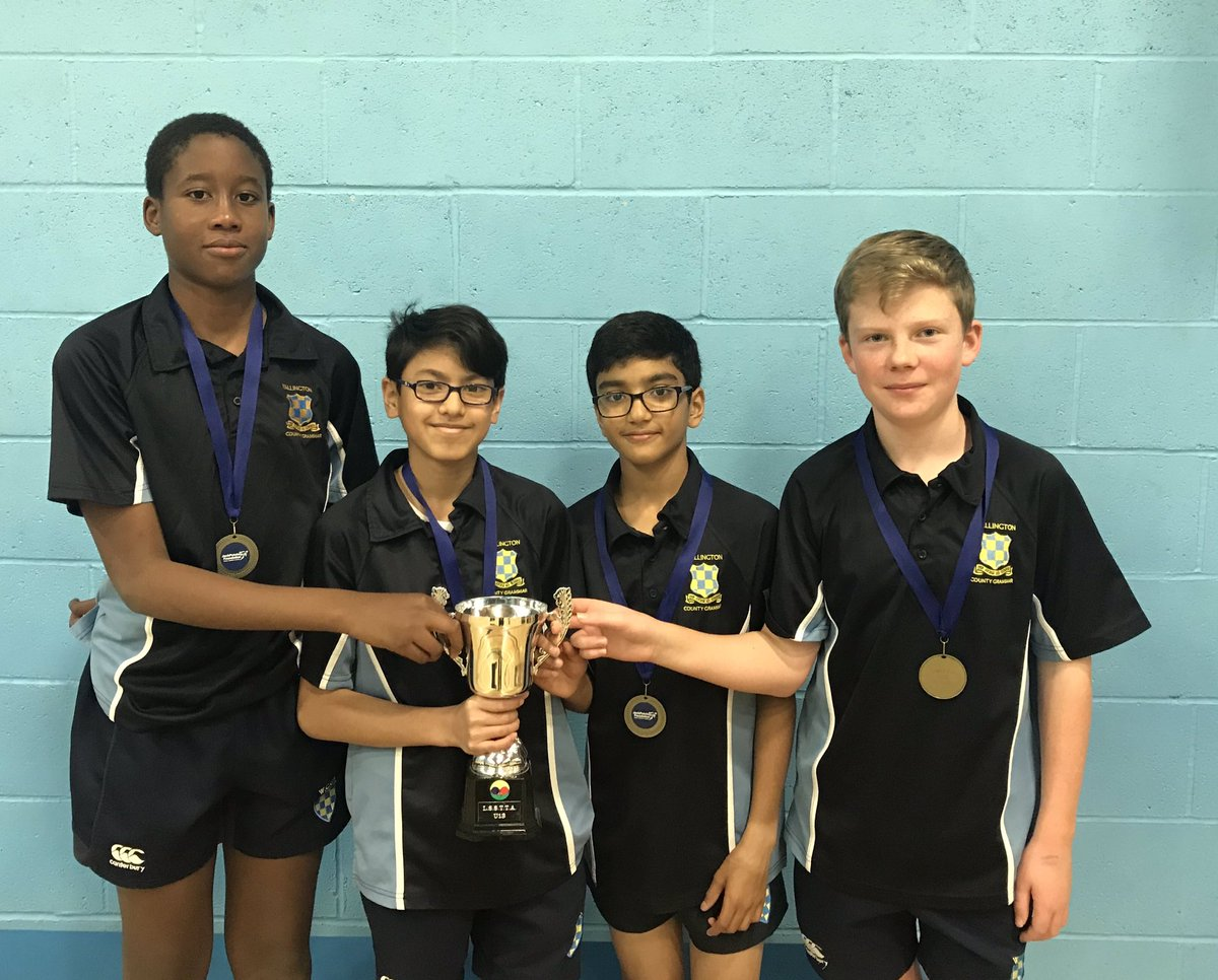 Congratulations to the U13 table tennis team for winning the Jack Petchey South London tournament beating Tiffin 8-0 in the finals #focus #champions