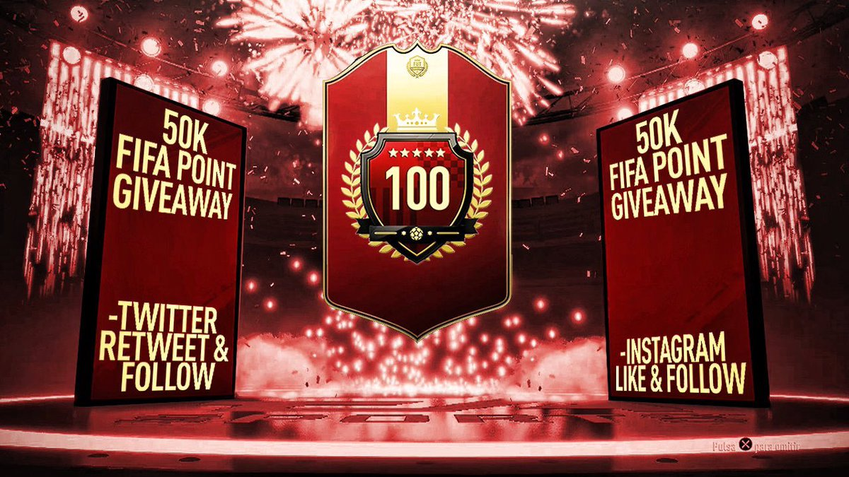 To celebrate going 29-1 and hitting TOP 100 again....  RETWEET & FOLLOW FOR A CHANCE AT 50K FIFA POINTS!!!  Will pick a few winners on Dec. 2nd. VAMOS! (Also doing 50k on Instagram).
