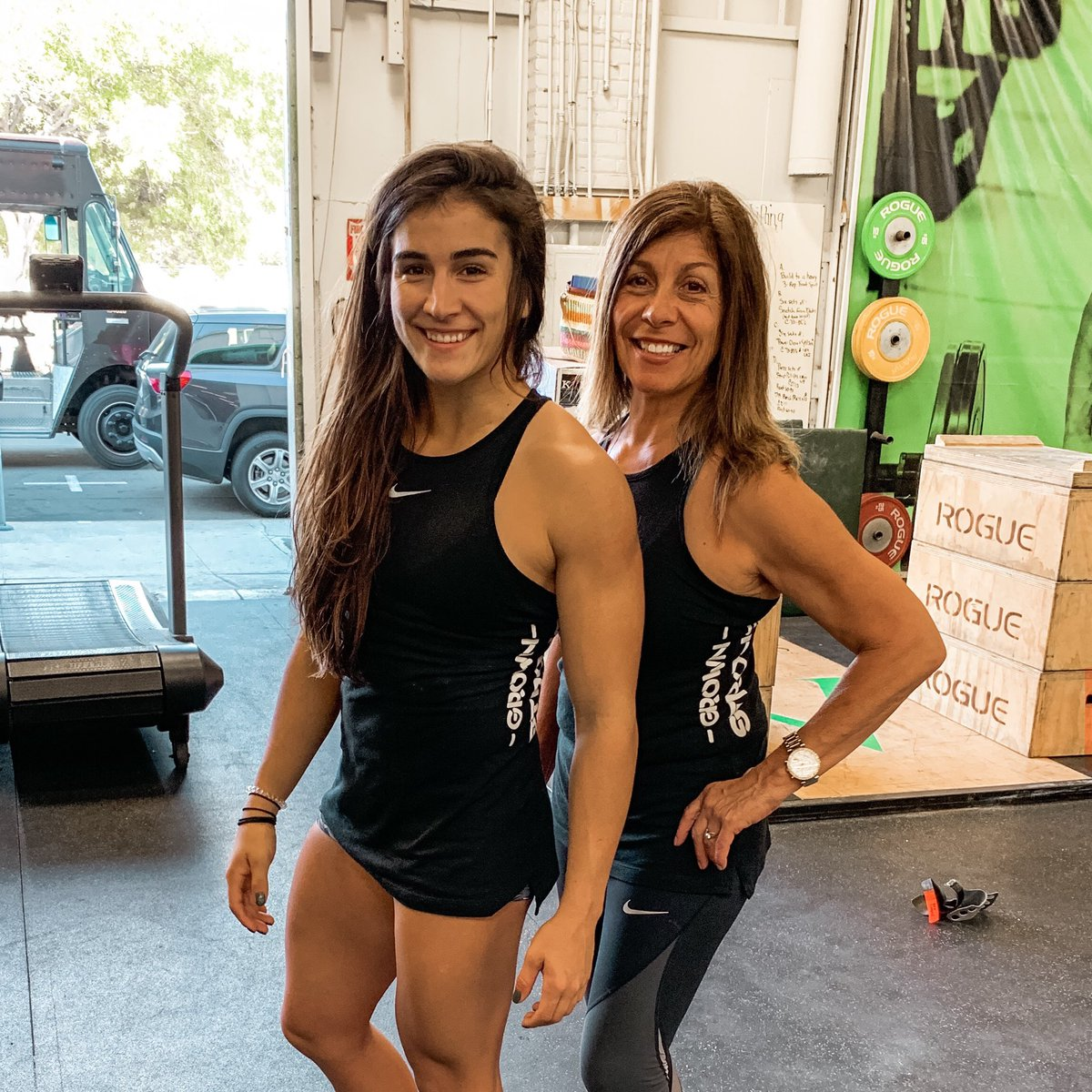 Got it from my mama. 💕 Accidentally twinning in our #GrownStrong tanks the other day. ☺️👯♀️ Shop the big Cyber Monday SALE at grownstrong.com right now. Save 33% until Midnight TONIGHT PST. Happy Holidays everyone! 🎄🤶🏼🎁 ⠀⠀⠀⠀⠀⠀⠀⠀⠀ #CyberMonday #Sale #Nike