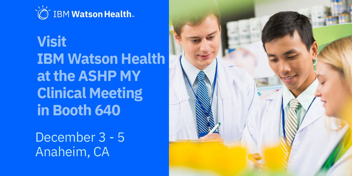 Need clinical decision support? Put the power of #AI to work for you w/ IBM #Micromedex with Watson. Visit #WatsonHealth at #ASHP18 booth 640 to explore how our technology may help you.