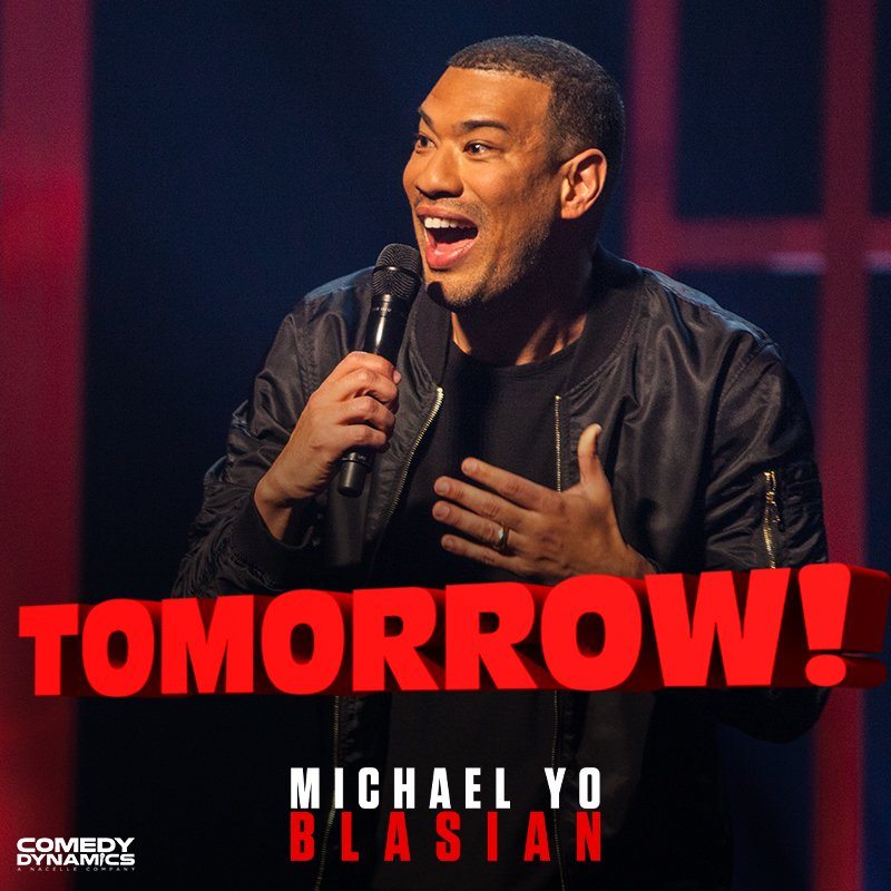 Pssst. Guess what? Tomorrow Michael Yo's #Blasian is available for all. Pass it on!  #YoBlasian #ComedyDynamics #MichaelYo #PassItOn #Hilarious