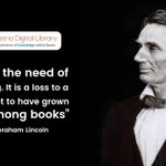 """""""I feel the need of reading. It is a loss to a man not to have grown up among books"""" - Abraham Lincoln  https://t.co/hPyHkECGmC"""