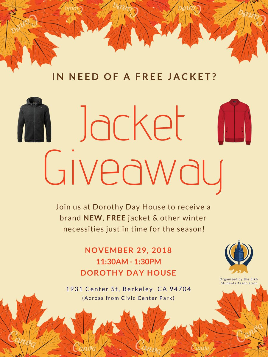 Free Winter Jacket for those in Need @ Dorothy Day House | Berkeley | California | United States