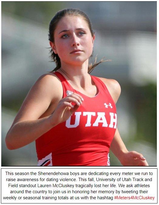 High School Boys' Track Team Goes #Meters4McCluskey to Honor Murdered University of Utah Runner