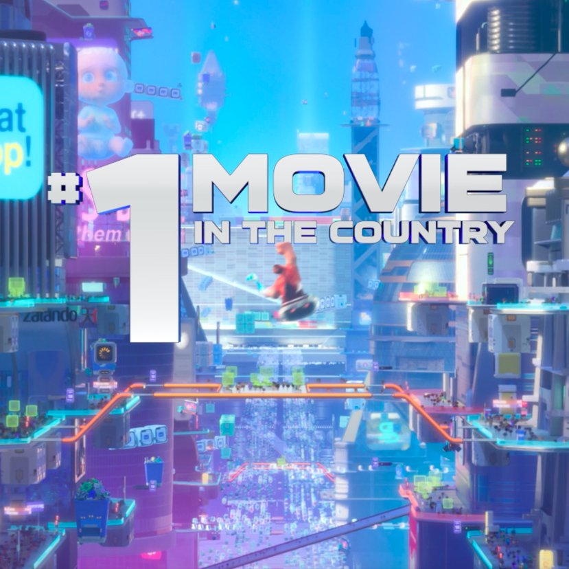 #RalphBreaksTheInternet is the #1 movie in the country! See it in theatres now.