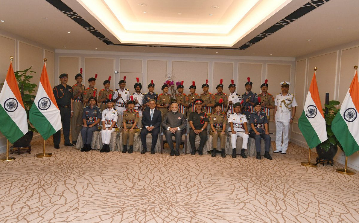 Wonderful moments with my young friends.  Spent time with NCC cadets, who got the opportunity to come to Singapore as a part of a cadet exchange programme. They shared their memorable learnings and experiences with me.