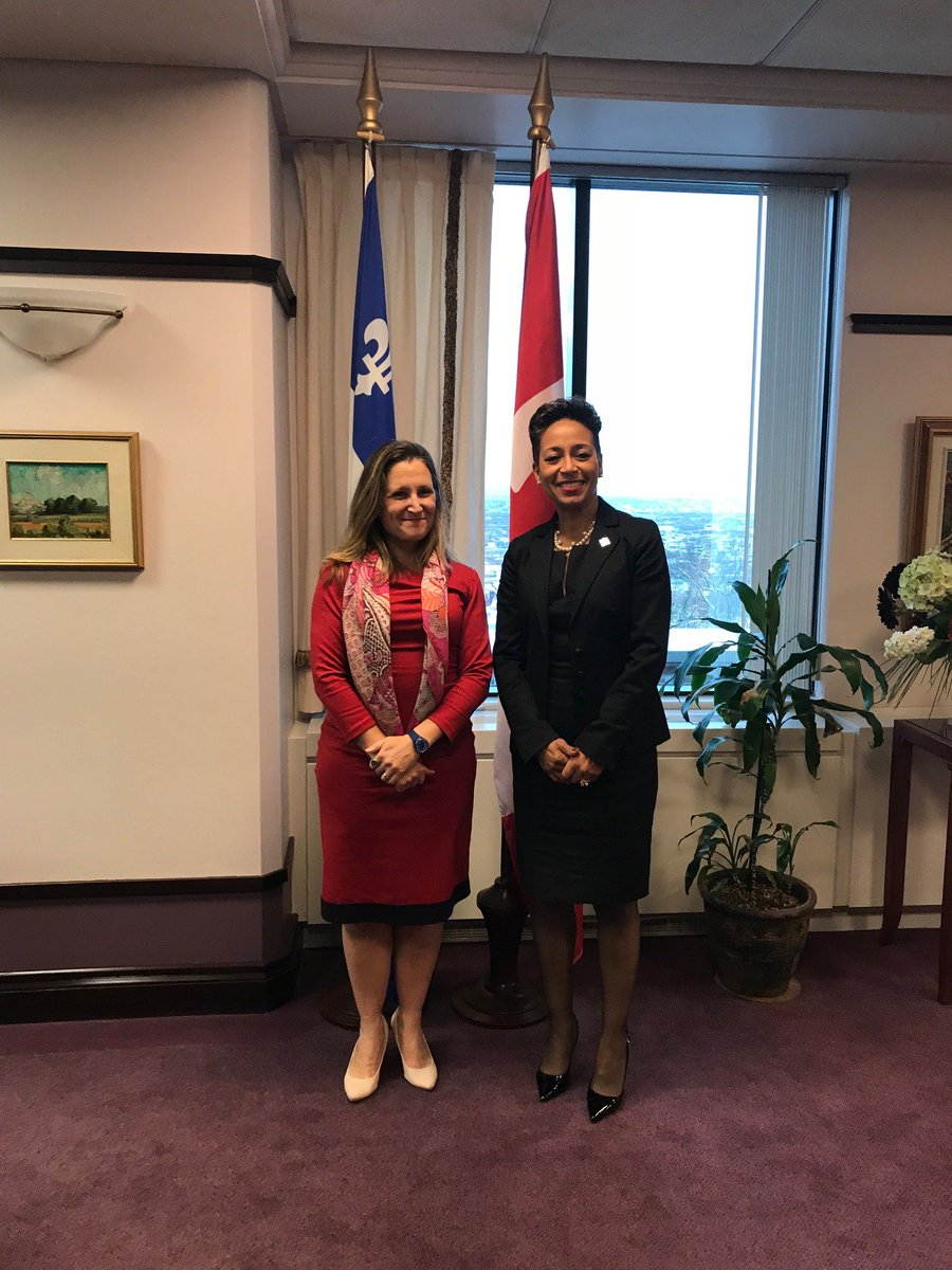 Great first meeting with @NadineGirault. Thank you for the warm welcome in Quebec City. Looking forward to working together in the future.