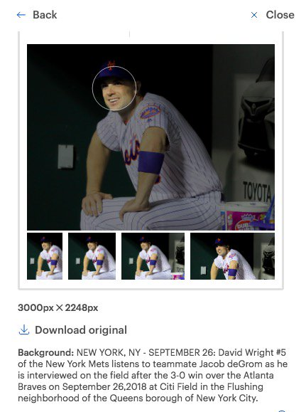 All of you smartypantses pointing out that is a picture of David Wright probably feel a little stupid now that they know that deGrom is a part of this picture, just off camera. <br>http://pic.twitter.com/lxlZh0JX8Z