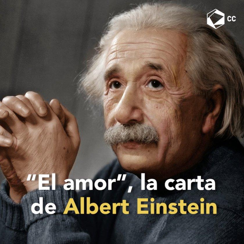 Por amor se vive o muere. Einstein lo sabía muy bien 💕