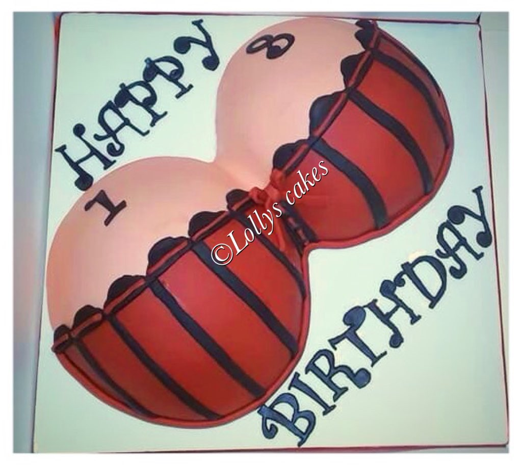 Wondrous Lollys Cakes On Twitter Boob Cake Made This Week Personalised Birthday Cards Beptaeletsinfo