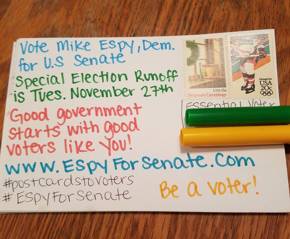 10 more #PostcardsToVoters for #EspyForSenate   #BeAVoter #VoteThemOut<br>http://pic.twitter.com/ZZFcdkR9nO