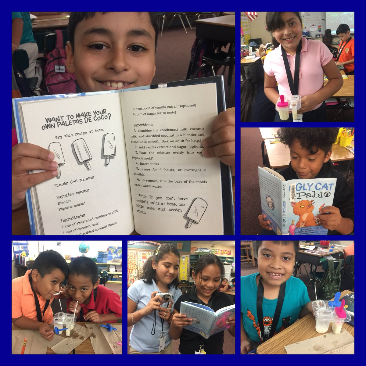 Orange River On Twitter Mrs Cardenas Class Enjoyed Reading The Ssyra Book Ugly Cat And Pablo And Then Made The Same Kind Of Coconut Popsicles The Characters Are Yum Loveleeschools Https T Co Gq75jgq6rt