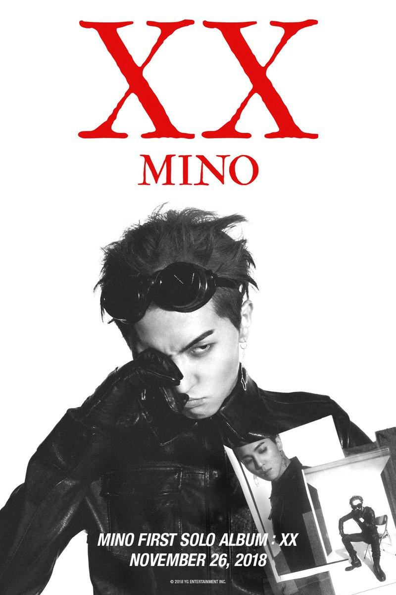 #MINO 'FIRST SOLO ALBUM : #XX' TEASER POSTER  ✅ 2018.11. 26  #미노 #WINNER #위너 #FIRSTSOLOALBUM #XX_mino #VER_3 #YG