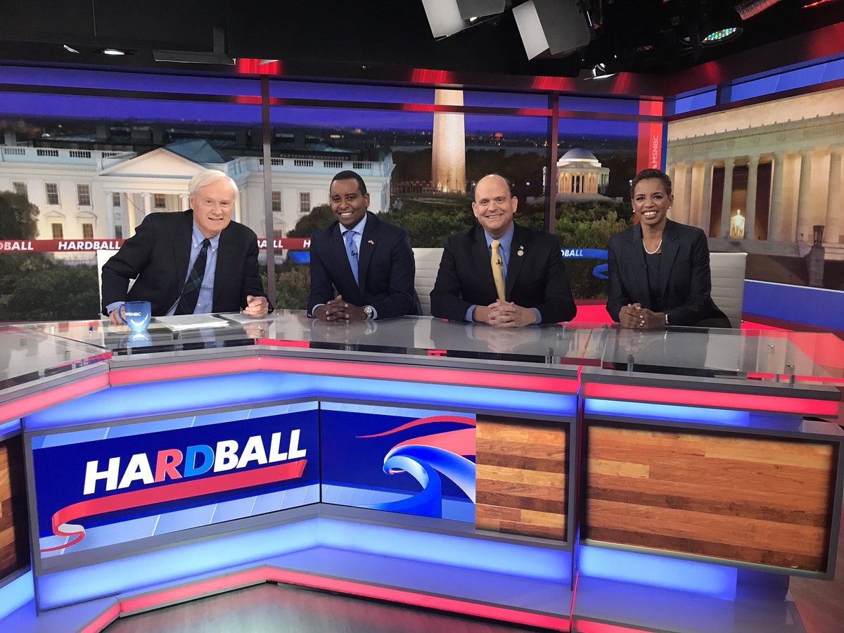 Our congressional #Hardball roundtable: @DonnaFEdwards, @JoeNeguse, @RepTomReed. Tune in!