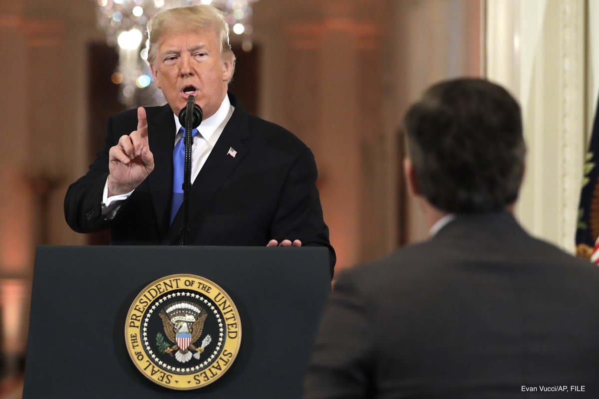 In an emergency court hearing, the Trump administration defends revoking CNN correspondent Jim Acosta's press pass https://t.co/Fawr5Y5MEK