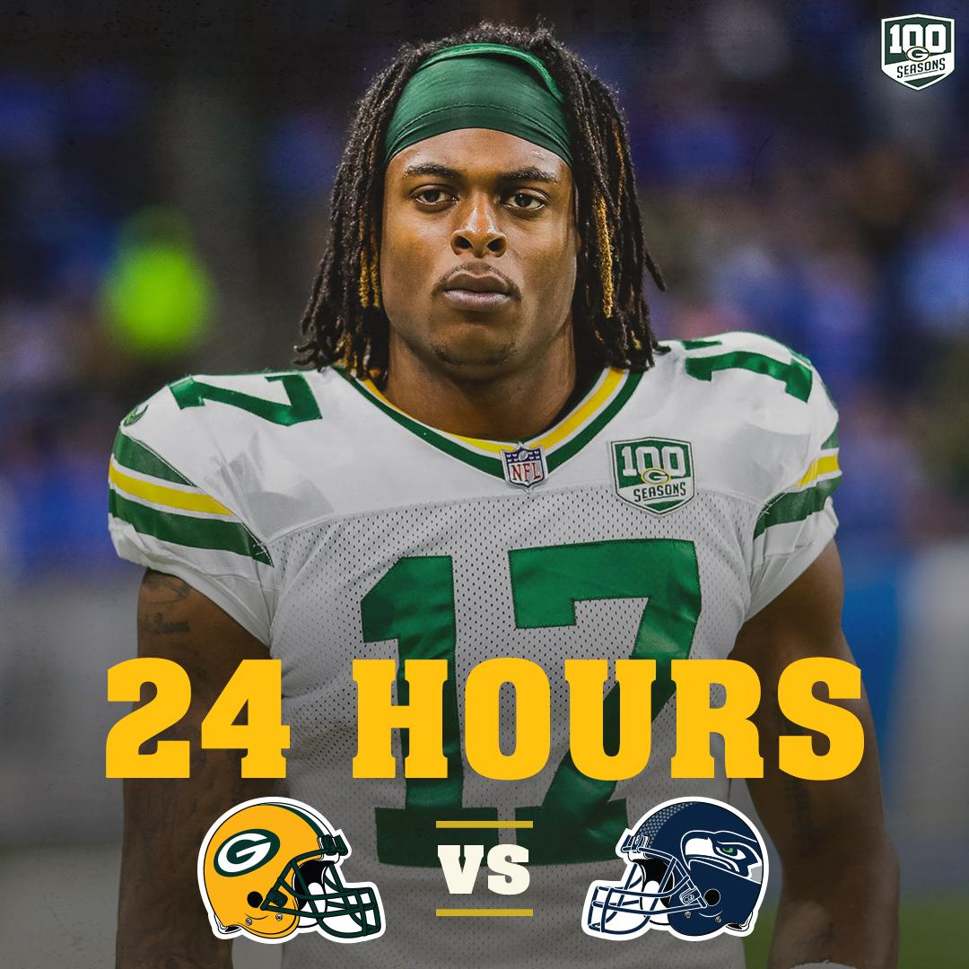 HOURS  #GBvsSEA on Thursday Night Football  #GoPackGo <br>http://pic.twitter.com/i9WD3K2ACe