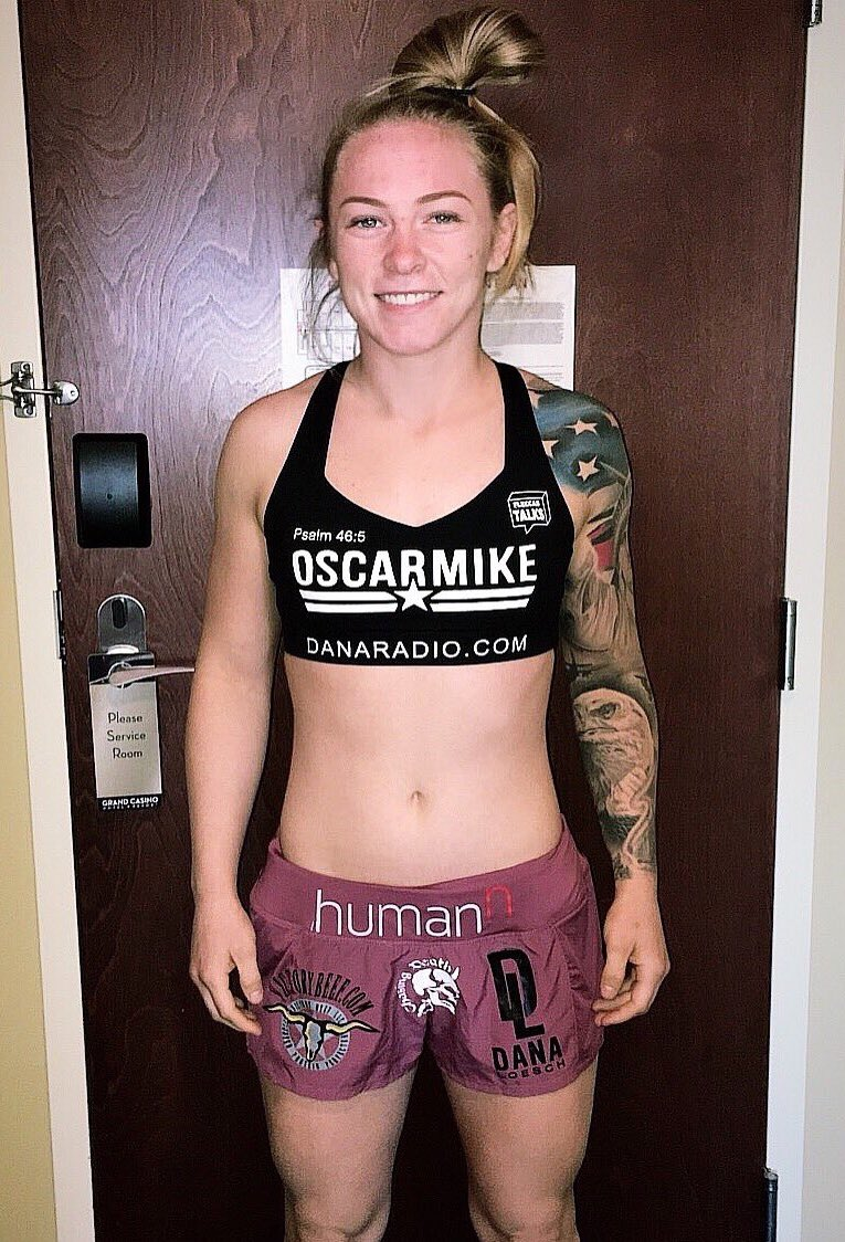 Female MMA Fighter Pays Tribute To Her Faith, Country In A Quintessential American Way