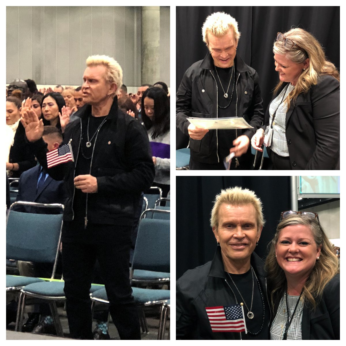 Billy Idol Naturalization Photos