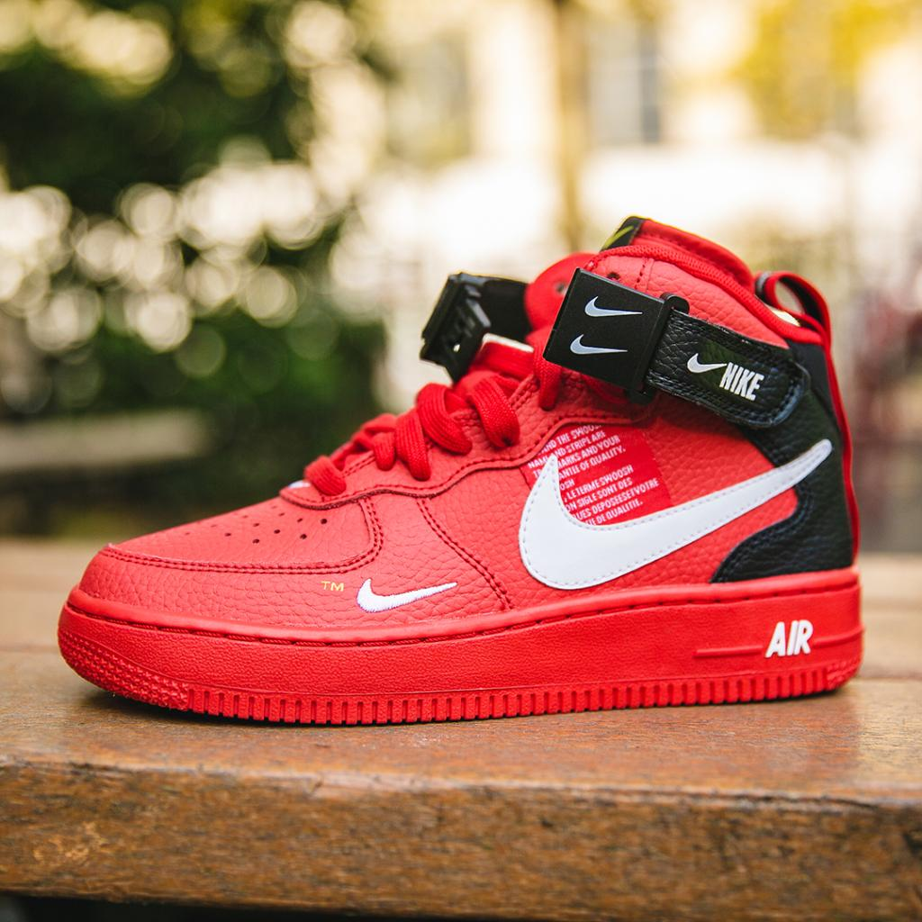 Kids Foot Locker On Twitter Make A Statement In The Red Nike Air Force 1 Mid Utility In Stores And Online Now Https T Co Mxik8taywo