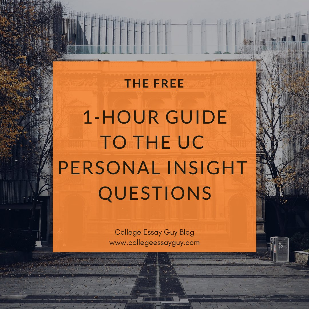 The UCs are looking for some very particular information (14 pieces of information, in fact), and the 8 personal insight questions are intimately connected to these 14 points. Here's how to break all of that down—in just 1 hour, for FREE: goo.gl/4n3k29