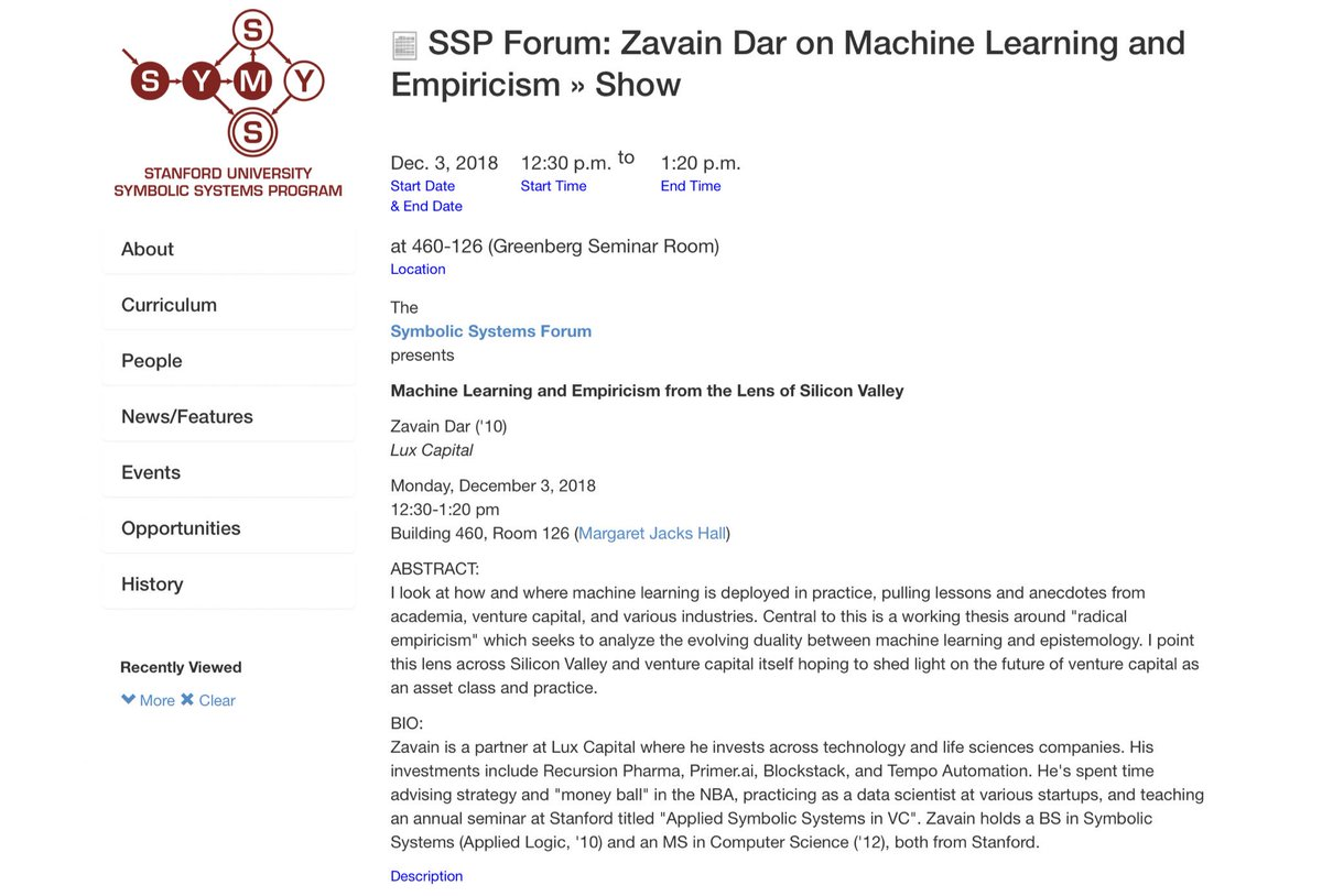 """If you want to learn what's real and what's BS in AI + ML directly from Lux's @zavaindar as the rest of Lux team gets to—  —take his class at Stanford: """"Machine Learning + Radical Empricism"""". https://t.co/aRgaMkSLgR"""