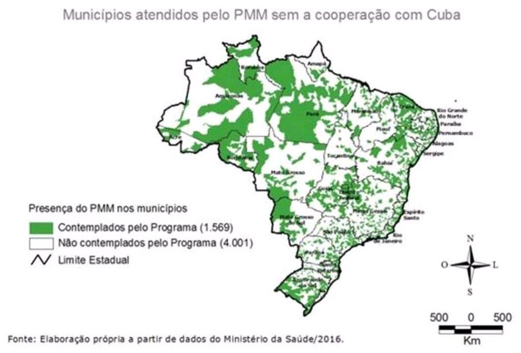 Fica bem fácil ver o tamanho da contribuição cubana na Saúde Pública brasiliera.