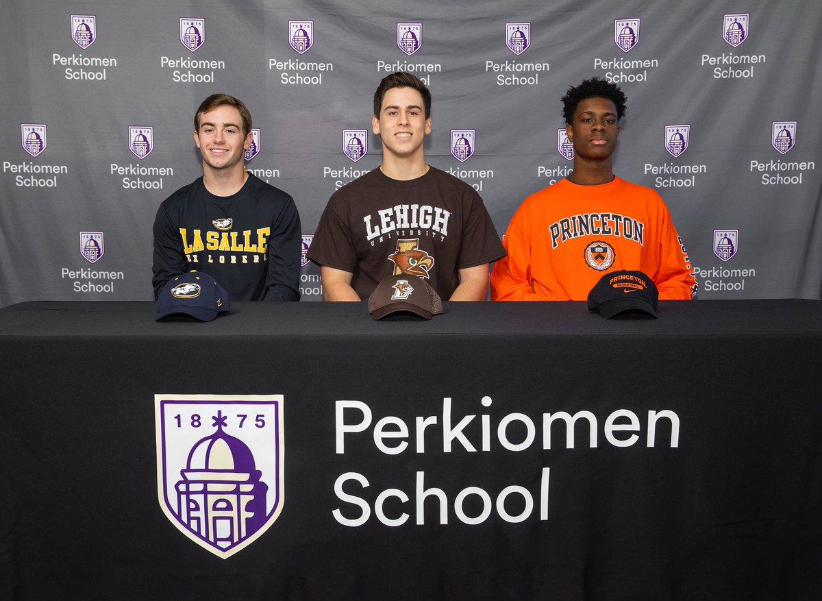 Congratulations to David Smith, Carlos Torres, and Keeshawn Kellman for their commitments to Division I athletics. @LaSalleBase @LehighBaseball @Princeton_Hoops @PerkAthletics #perkpride #riskbecomingyourbest