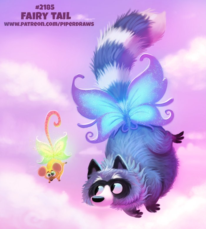 Daily Paint 2185. Fairy Tail  #illustration #cute #animals   Autumn Special Print Promos:  http:// ForgePublishing.com/shop  &nbsp;                               https://www. patreon.com/piperdraws  &nbsp;  <br>http://pic.twitter.com/TFwBClSUMM
