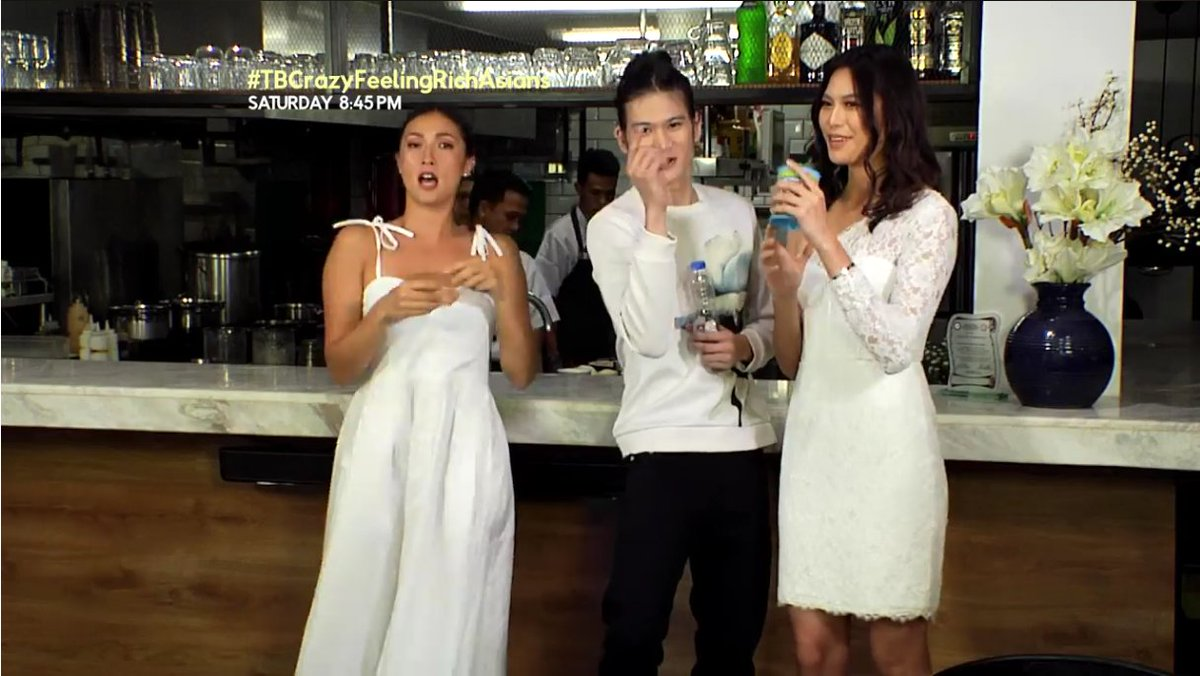 Be like your crazy, feeling rich, Asians  Solenn and Gil with Kapuso babe Michelle Dee, and get what you really  deserve this weekend – FOOD!  WATCH  https:// goo.gl/Q43S9W  &nbsp;   Tune in to #TBCrazyFeelingRichAsians Saturday 8:45pm on GMA News TV! <br>http://pic.twitter.com/U51aa7rFV6