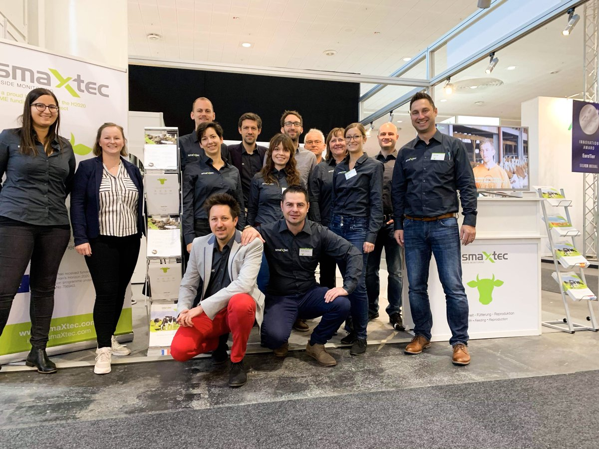 Team smaXtec is waiting for you at @EuroTier 🐮 Visit our booth C20 in hall 11 and get to know our innovative system better 💬 #smaXtec #EuroTier18