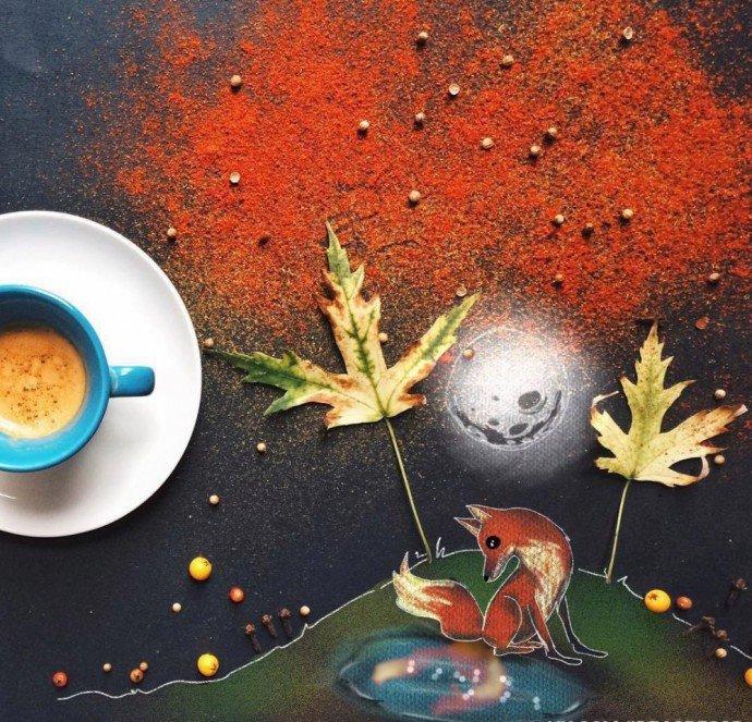 Открытки с добрым утром креативные осенние