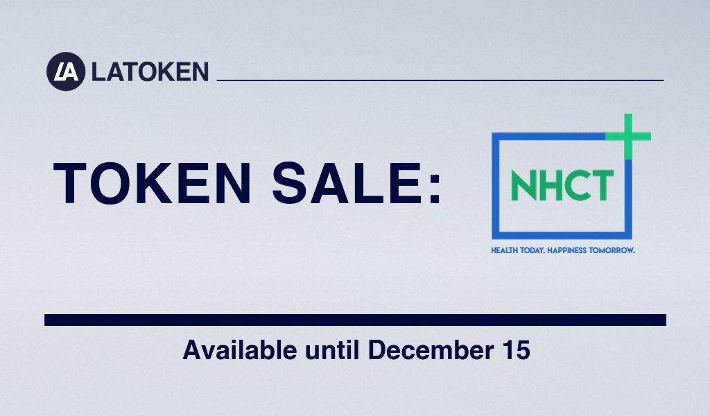 "#LATOKEN lists @NHCToken Token Sale (ends on Dec 15) GET NHCT NOW:  https:// bit.ly/2qNJEOJ  &nbsp;   NHCT (NanoHealthCareToken) is a total health management platform that is built on the philosophy of ""preventive"" rather than ""reactive"" medical care.  More info:  https:// nhct.io / &nbsp;  <br>http://pic.twitter.com/SZZpKzUhkq"