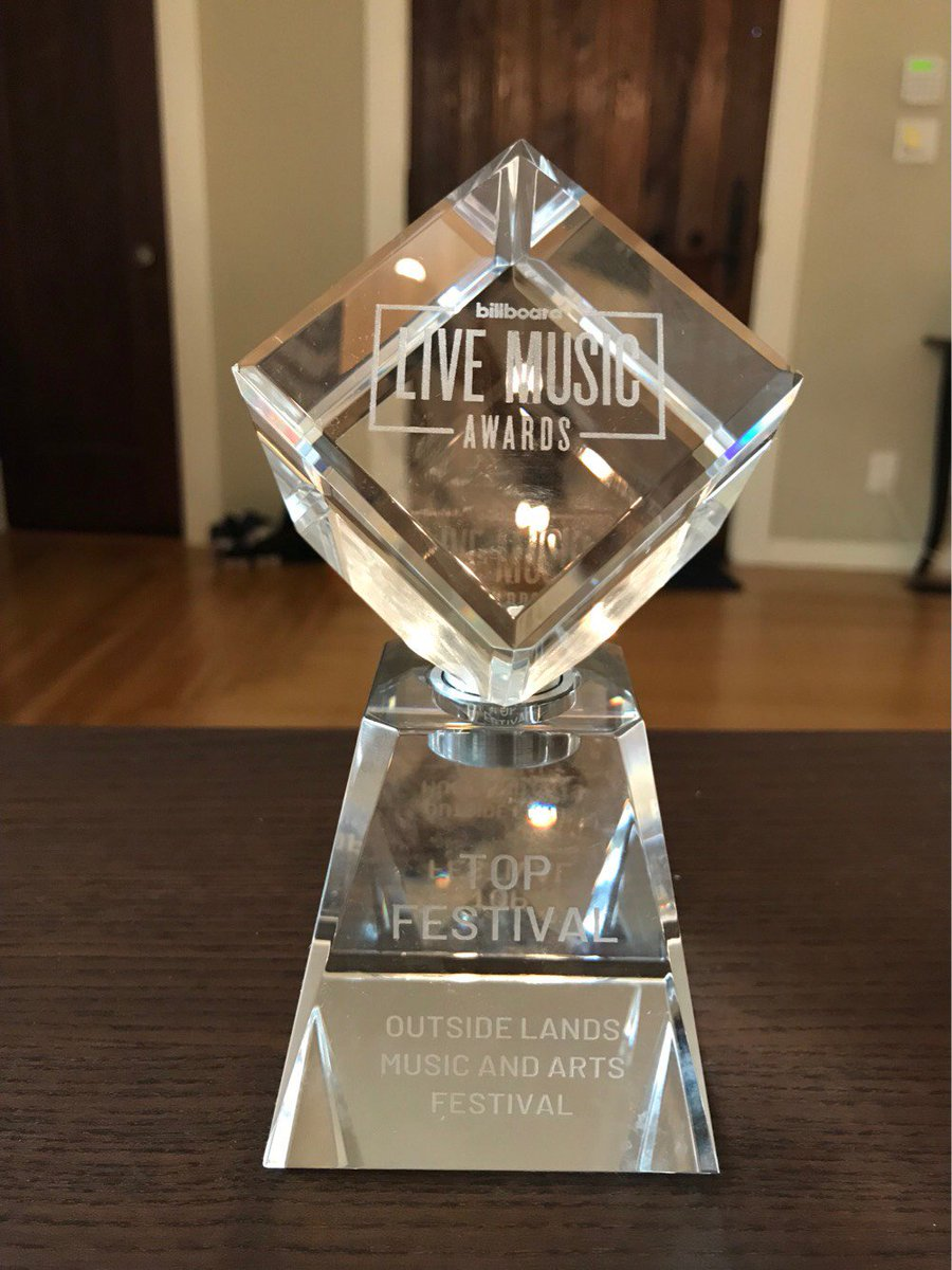 ranger dave is beaming with pride. #outsidelands won top festival at the @billboard live music awards!