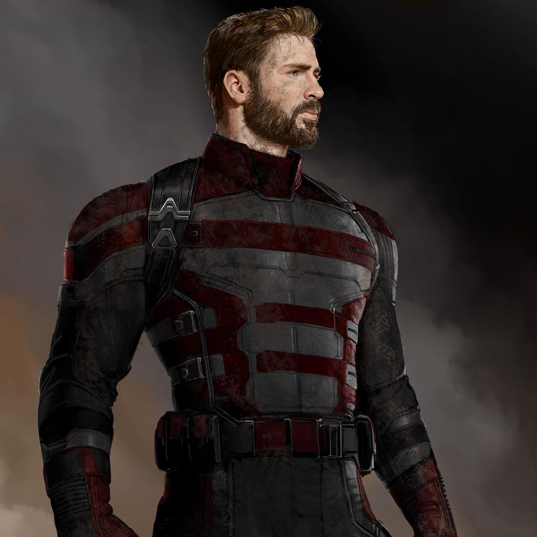 Another unused Captain America  design from AVENGERS: INFINITY WAR inspired by the look of a U.S. Agent:  (via @MeinerdingArt)<br>http://pic.twitter.com/6dKN0kABsr