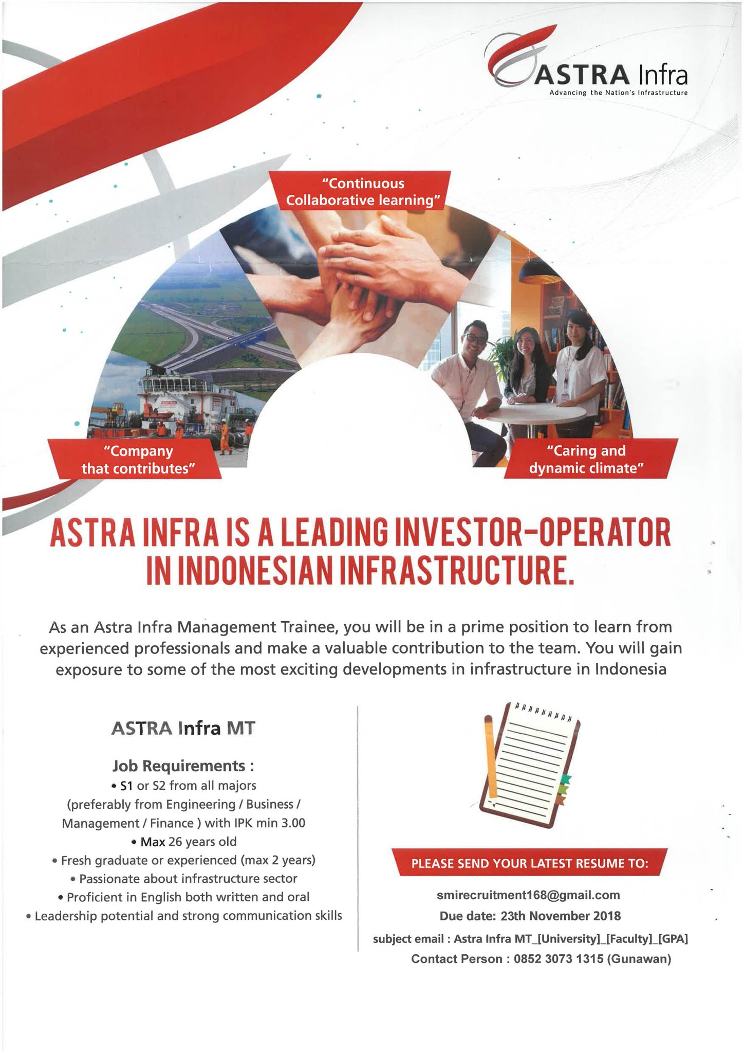 All About Recruitment PT Astratel Nusantara (Astra Infra Group) 2018