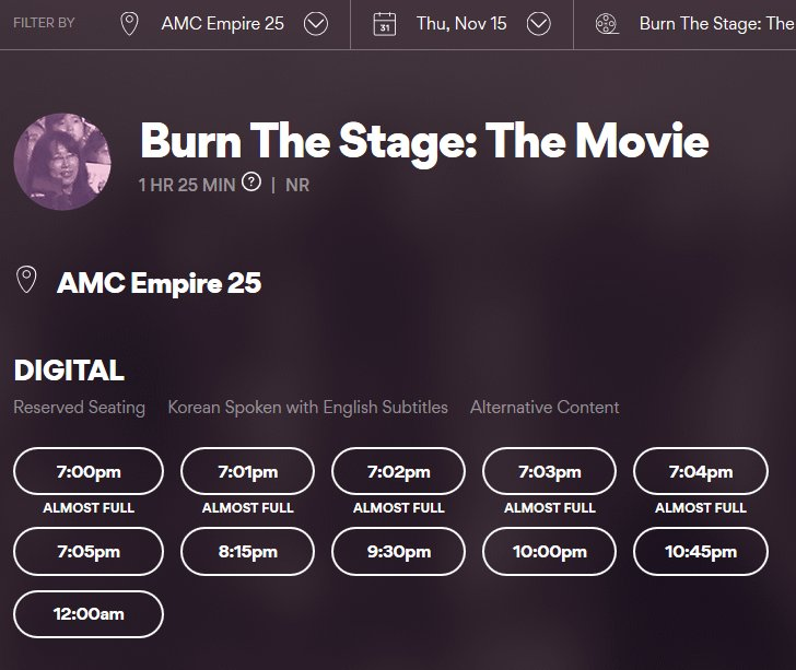 Tomorrow is @BTS_twt &quot;Burn The Stage: The Movie&quot; premier in north America! Are you excited, ARMYs??   Did you know both @AMCTheatres &amp; @RegalMovies added 2 more days (11/15, 11/17, 11/18) and multiple showtimes each day? Bring your friends &amp; family to see this great movie!<br>http://pic.twitter.com/UWY7F3aXur
