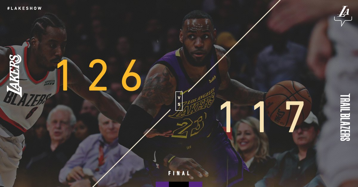 Season-high 44 points ✔️ Passed Wilt on the all-time scoring list ✔️ #LakersWin ✔️  Bow down to @KingJames. https://t.co/zj3hTrYMuj