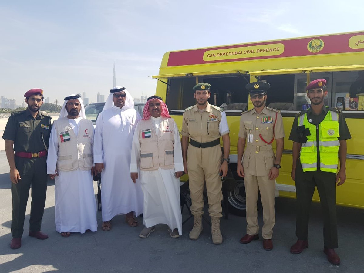#Attention | Pics: Training exercise is still ongoing, in Jumeirah at the entrance of Dubai Water Canal.