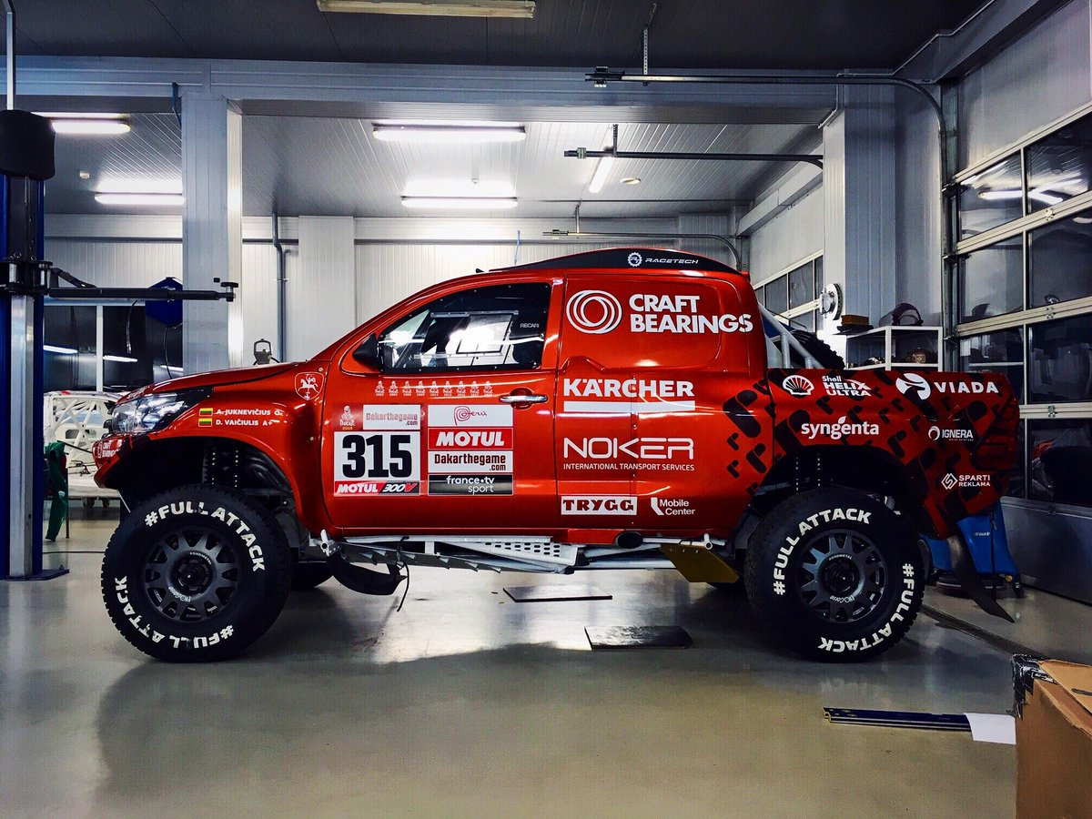 Stickers are on, ready to go to #France! #fullattack #dakar #dakarneversleeps #dakarrally #dakar2019 #315 #clean #racecar #rallyraid #4x4 #offroad #dakarperu #rallydakar  @dakar<br>http://pic.twitter.com/ZLoupnKo5G