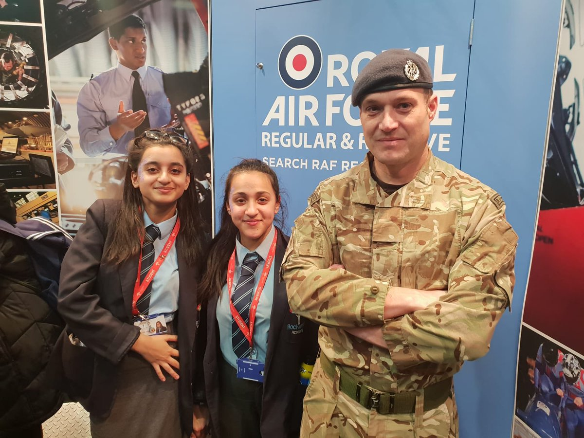Our Year 10s attending the @WSUKLIVE event at The NEC are taking the #opportunity to discover all of the apprenticeships, careers, and skills available to them - including careers with the @RoyalAirForce thanks to their VR simulator. #excellence