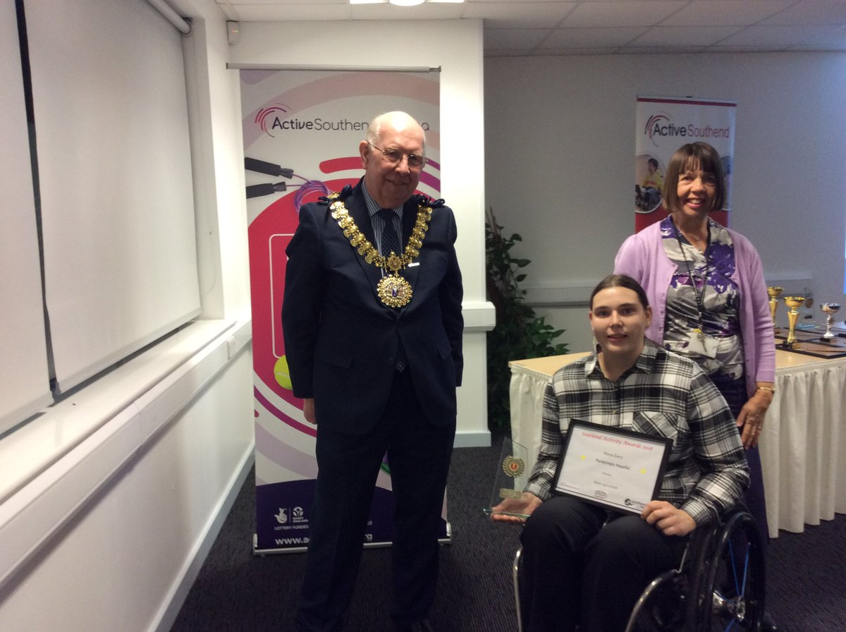 Congratulations to Freya Levy on winning Paralympic Hopeful, Good Luck in the Active Essex Sports Awards  #SouthendActivityAwards<br>http://pic.twitter.com/wzizPKb8Cu