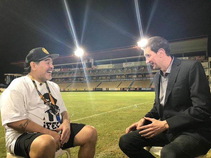 #MARADONAxESPN @migsim, Diego Maradona y una entrevista imperdible en México. ¡Revivila en ! Photo