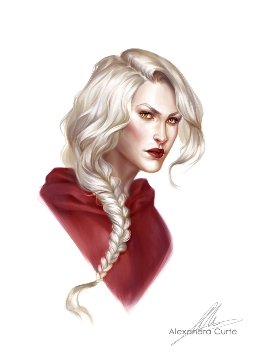 Changed a lot about this one, she just wasn't looking tough enough for Manon  may have taken it a bit far though haha    #manonblackbeak #throneofglass #sarahjmaas #aelingalathynius #witch #digitalpainting #illustration #myart #digitalart<br>http://pic.twitter.com/3wORNrqved