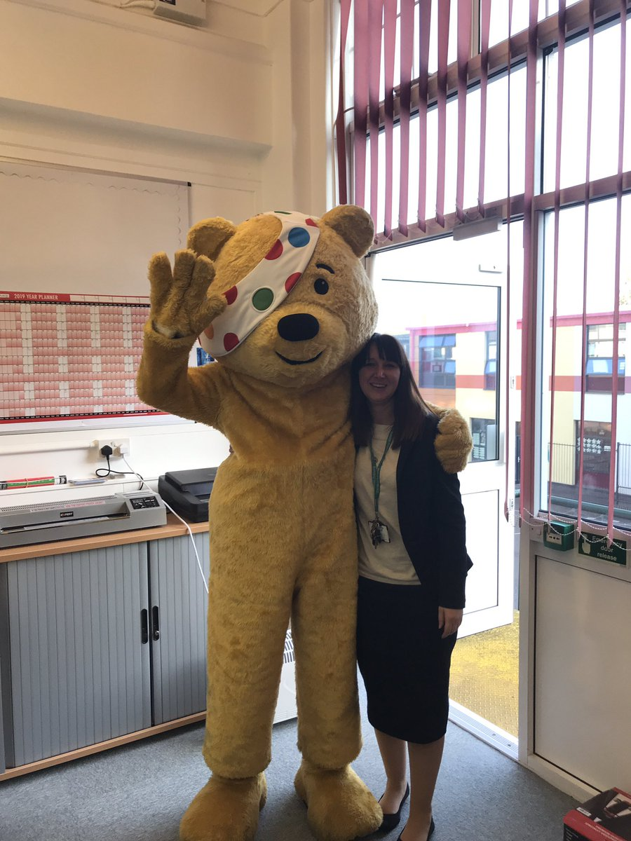 Students and staff at @CORENansen are making their special guest #PudseyBear feel at home as they find out all about @BBCCiN in preparation for their pyjama day fundraiser tomorrow! #respect
