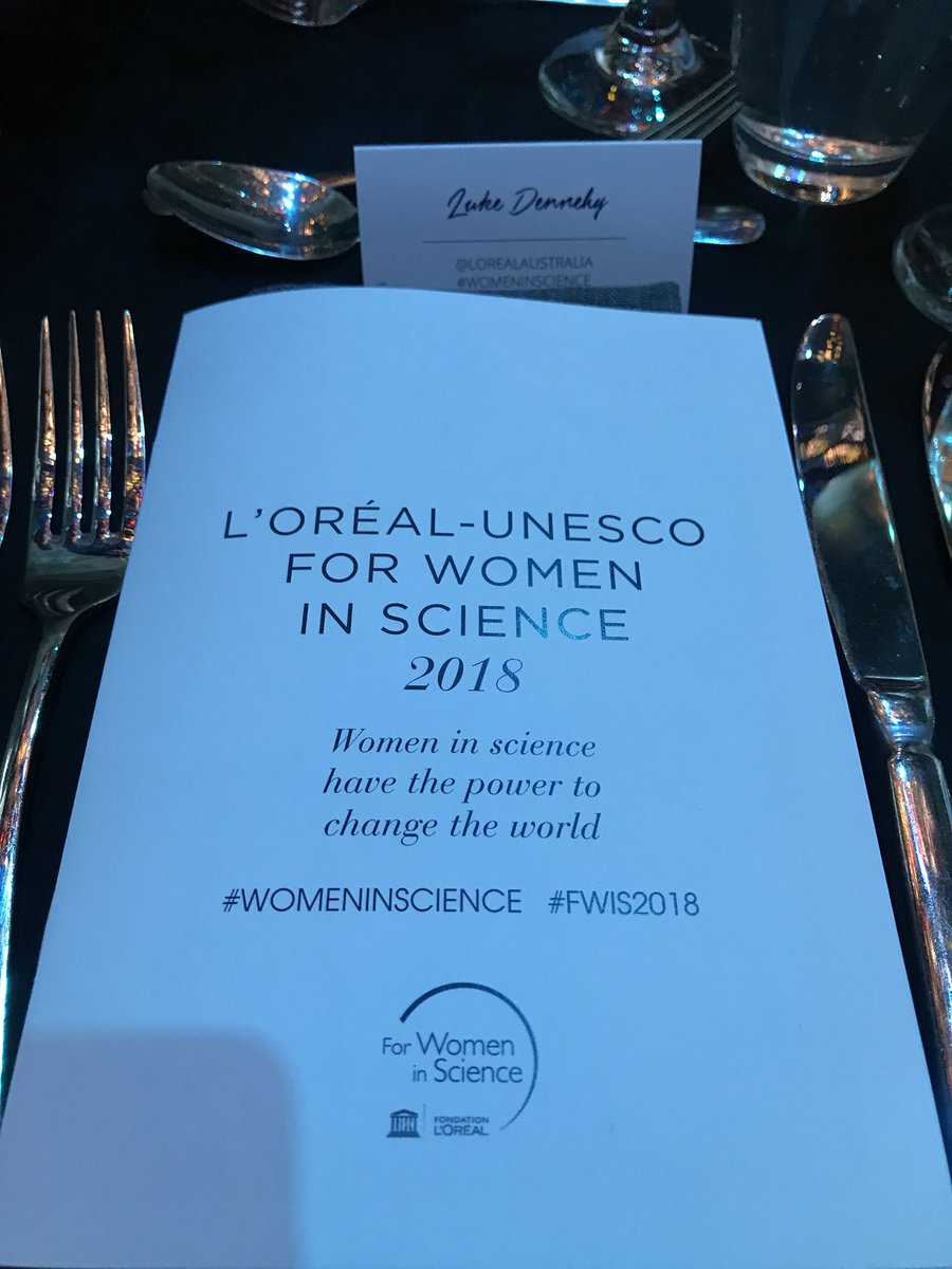 A wonderful night already at the L'Oreal-Unesvo For Women In Science 2018 awards. Incredible guest list - Magda Szubanski, Susan Carland, Rosie Batty, Lisa McCune and many more more. #WOMENINSCIENCE #FWIS2018