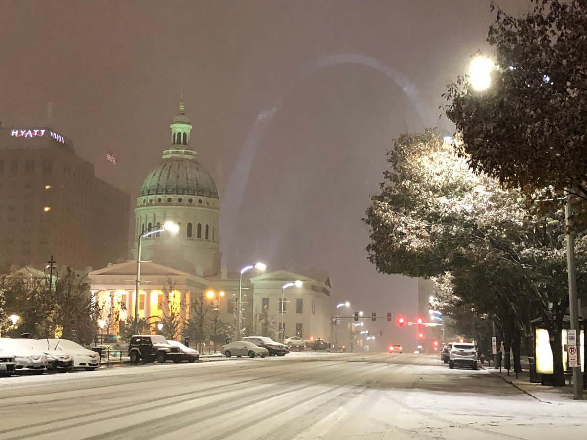 It was a rough commute to say the least, but it sure looks pretty once you are safely inside. Happy Snow Day #STL! #TISL #KSDK