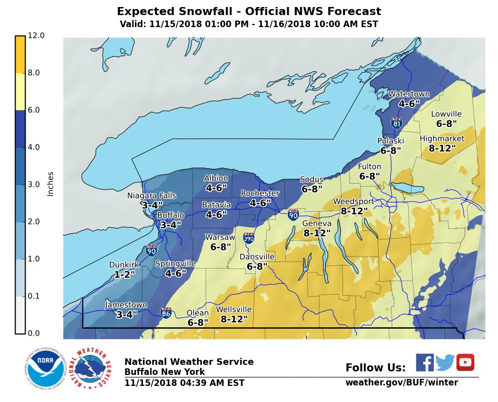 WINTER STORM WARNING: Finger Lakes braces for first meaningful snowfall of season (full coverage)