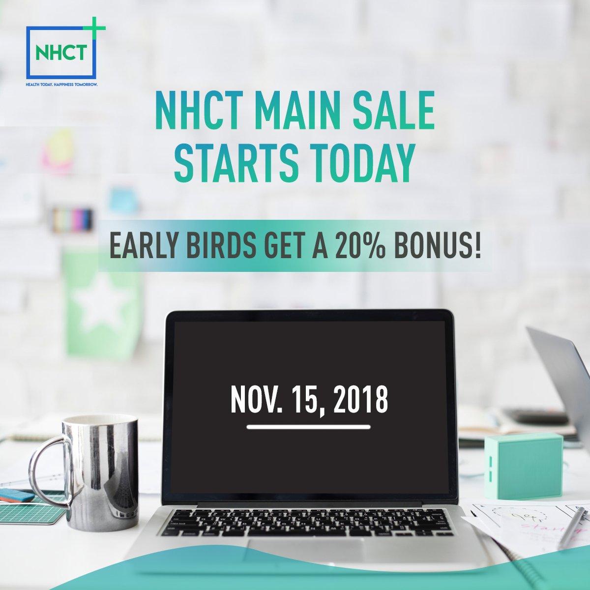 NHCT's Main Sale is finally live. Early birds get an attractive 20% Bonus.  #blockchain #technology #data #innovation #NHCT #ethereum #MainSale #TokenSale #satoshi<br>http://pic.twitter.com/qQGEHu1IQp