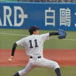 Image for the Tweet beginning: #江口奨理 選手 #浦和学院 #立教大学 #東京六大学野球 慶応大学戦